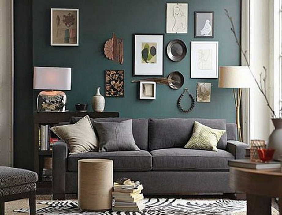 Artistic Wall Frames With Grey Couch For Modern Living Room Ideas With Zebra Printed Carpet Architecturein