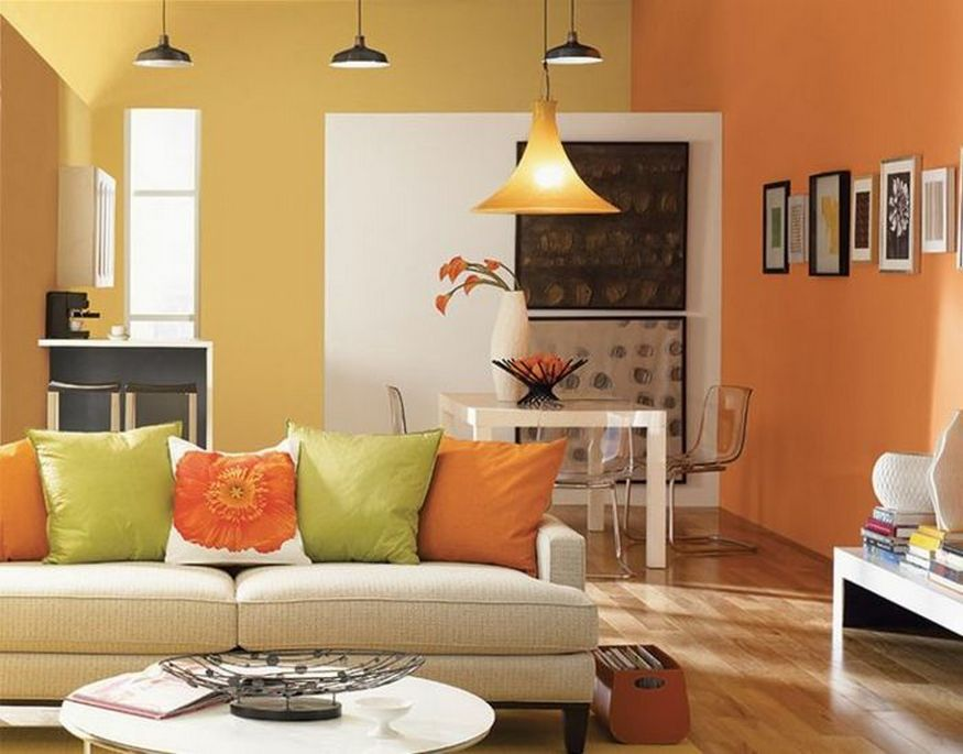 Two color living room paint ideas living room design for Paint wall two colors