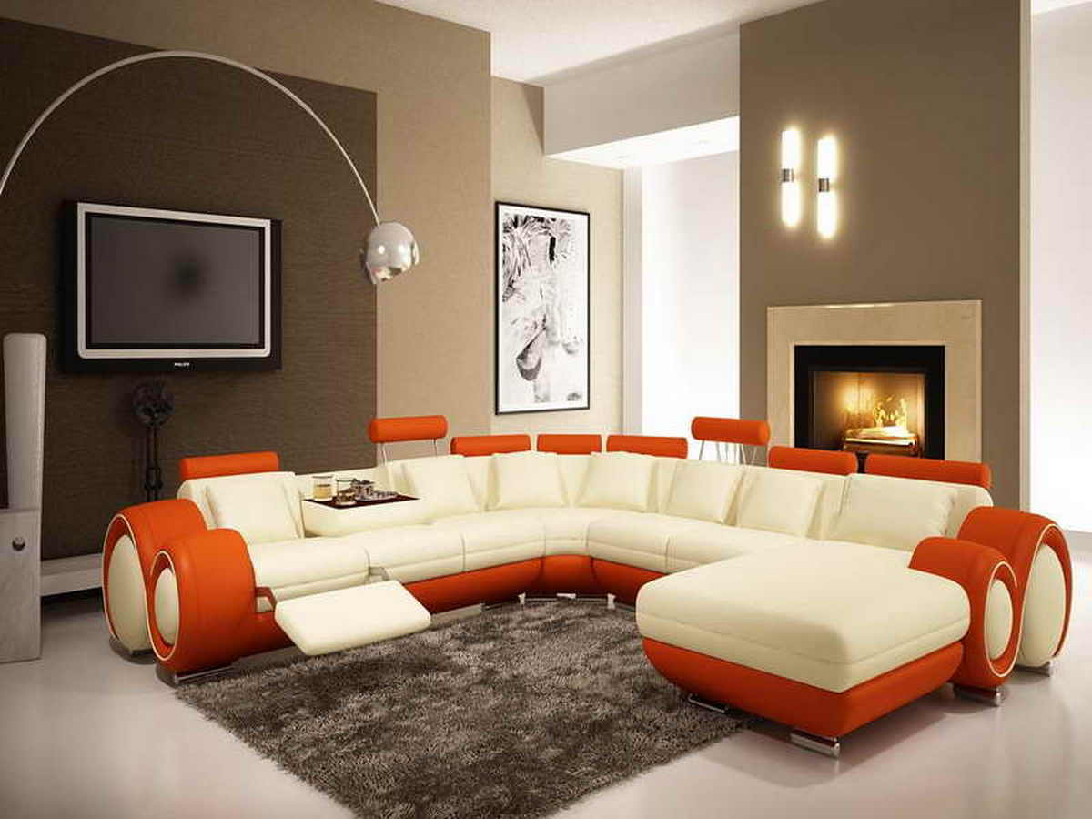 Brown Accent Wall Colors Living Room | ArchitectureIn