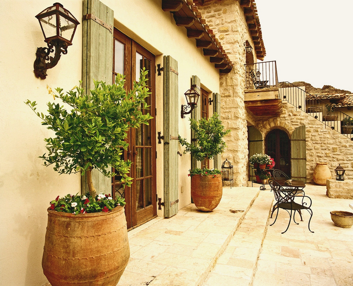 Decorate With Shutters Exterior Mediterranean With French Country ...