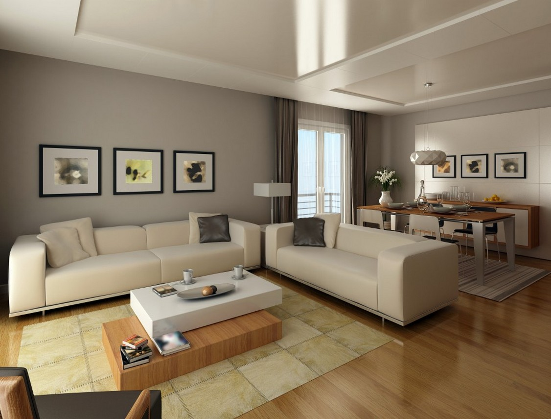 Grey Living Room Modern Color Schemes 9  ArchitectureIn