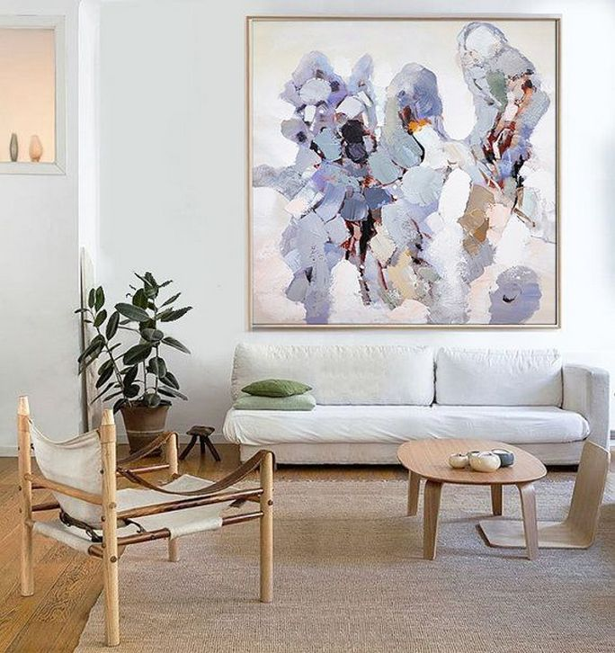 ... Hand Made Abstract Art, Acrylic Painting Large Canvas Art, Living Room  Wall Art