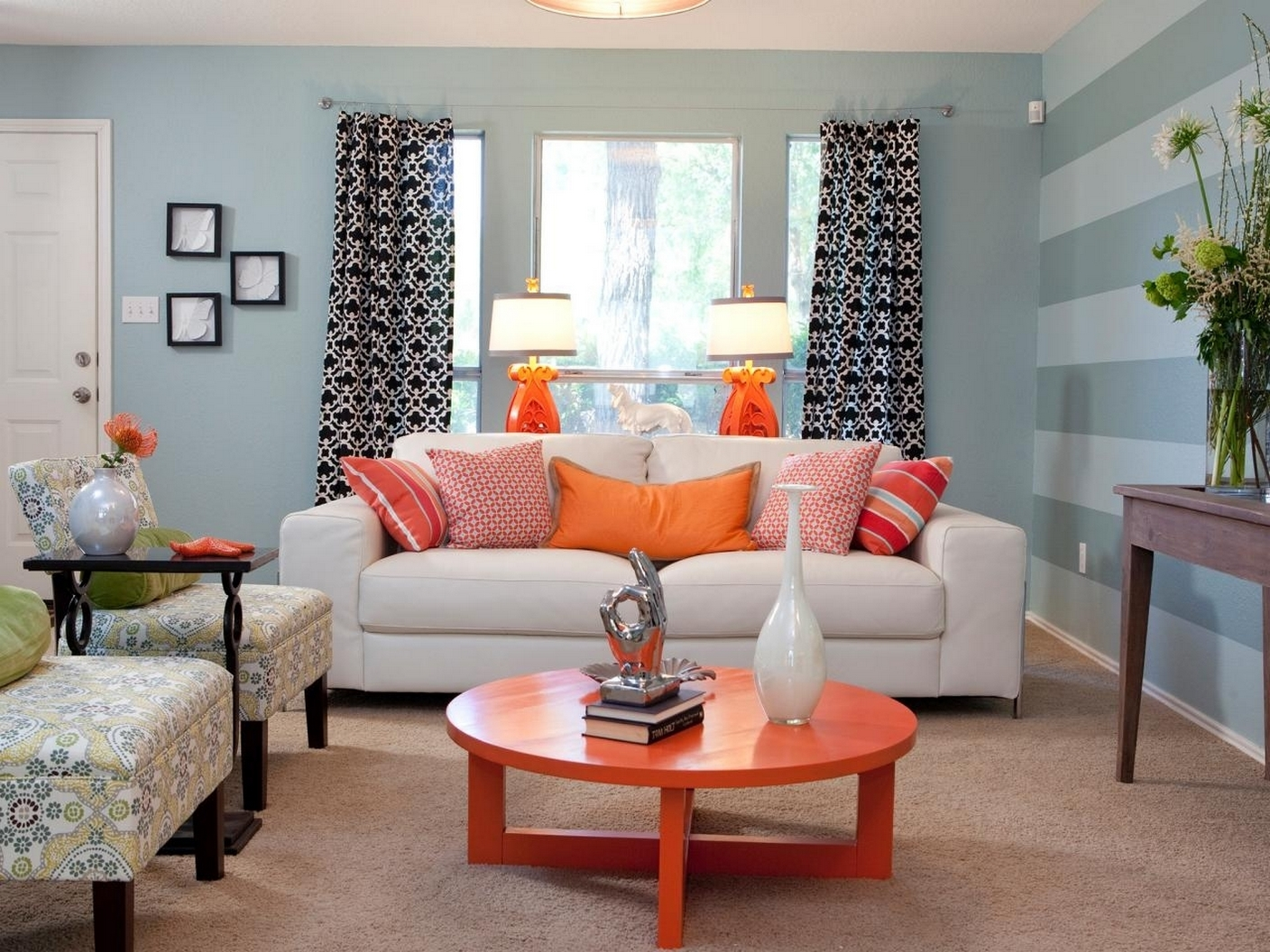 Stylish Living Room Light Blue Walls Living Room Design Ideas With Regard To Blue And Orange Living Room Architecturein