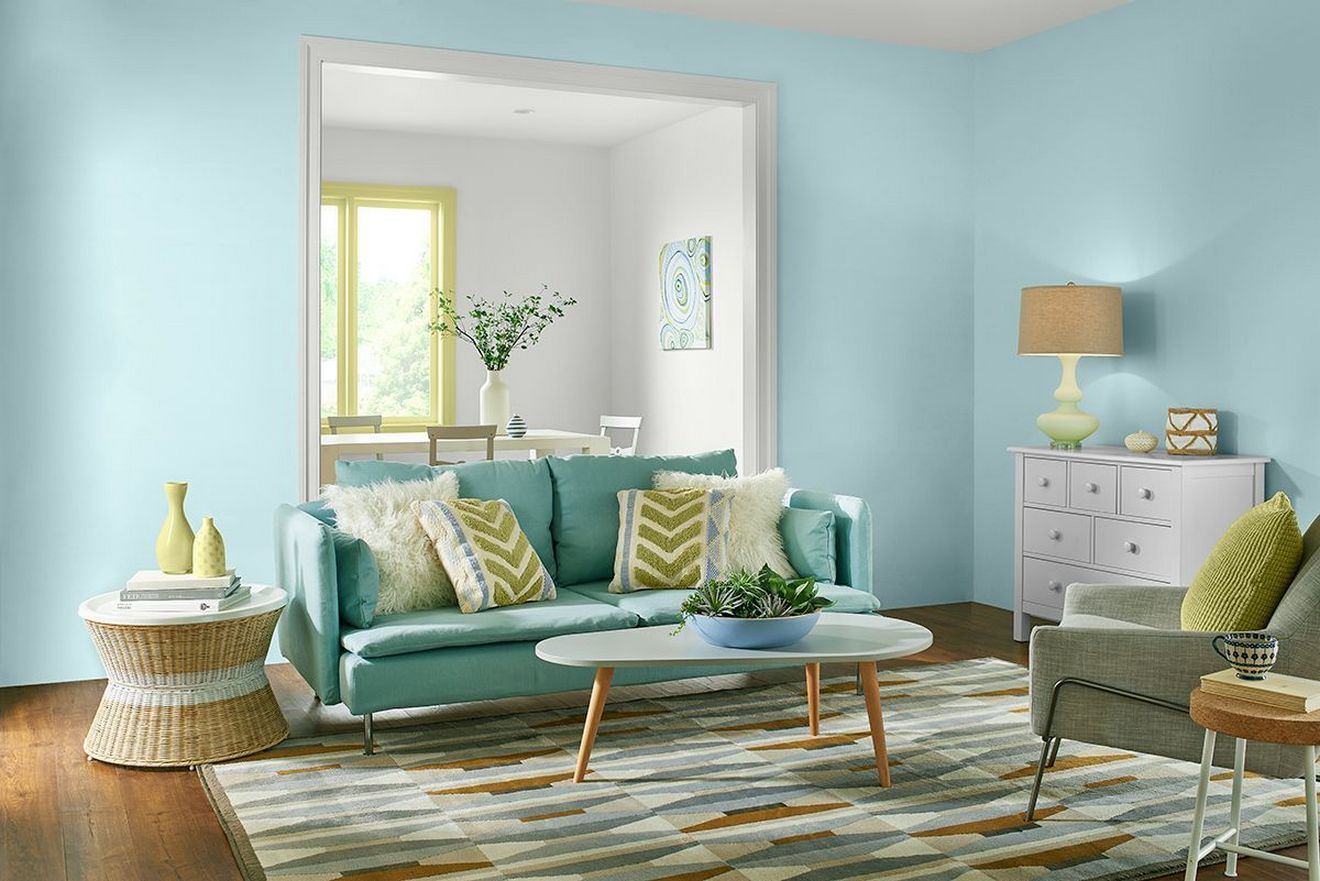 Turquoise Behr 2017 Color Trends See Every Gorgeous Paint Color. Green Living  Room ...