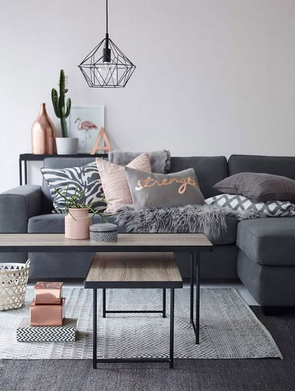 Grey And Pink Living Room Decoration Ideas Diy Architecturein