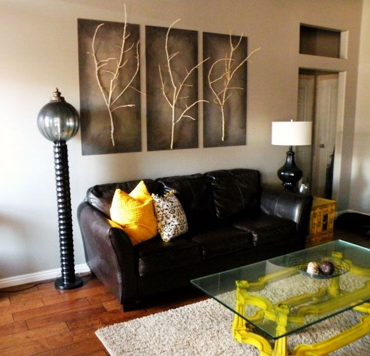 Simple Creation Diy Living Room Wall Art Real Branches ...