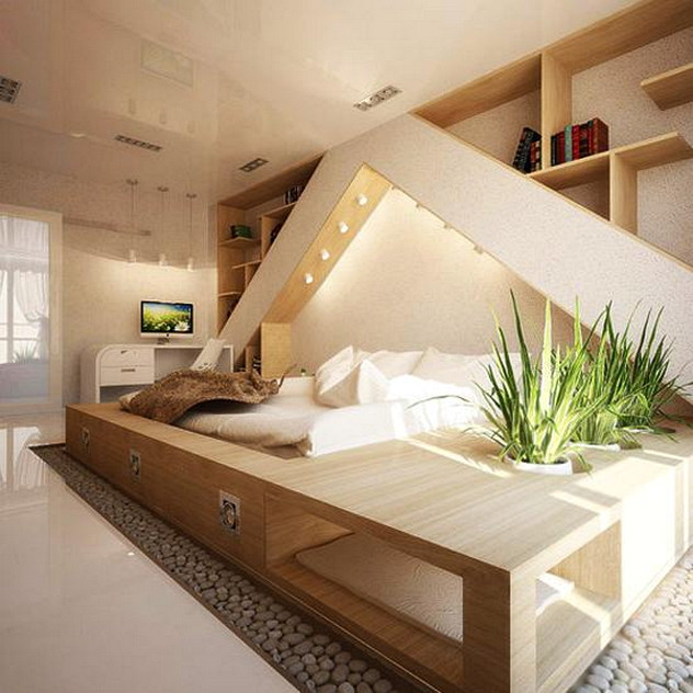 . Romantic Modern Bedroom Decoraitng Ideas With Natural Materials