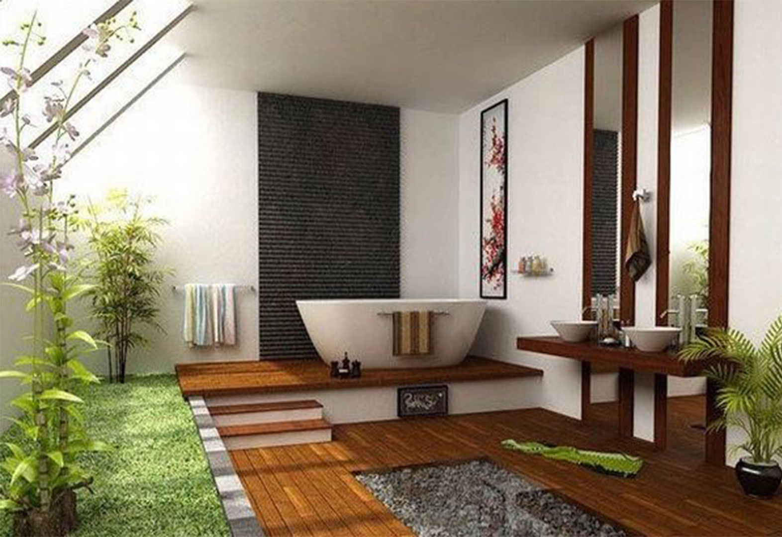 Bathroom For Natural Style Home