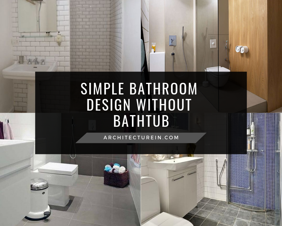 Simple Bathroom Design Without Bathtub Featured ...