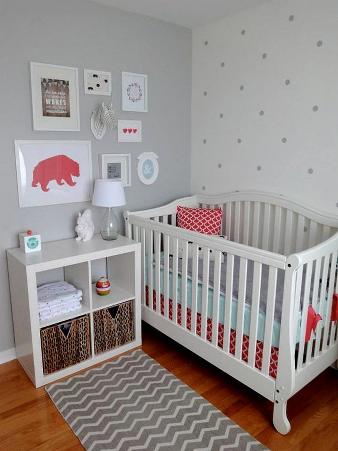 Grey Polka Dot Wall Decals Baby Room Style Ideas Decals For Baby Rooms Architecturein